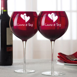wine glass for valentine day gift