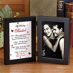 Personalized phot frame for Valentine day gift
