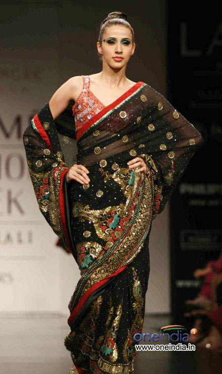 Saree Lakme Fashion week 2010
