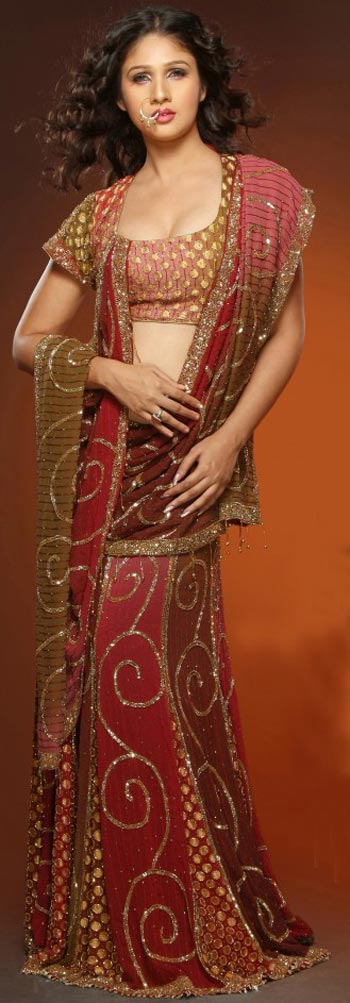 saree and pallu drape style 21