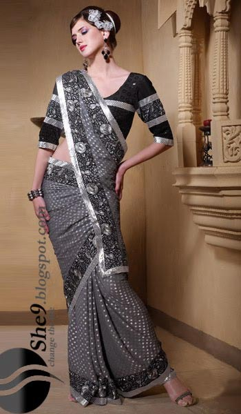 saree and pallu drape style 22