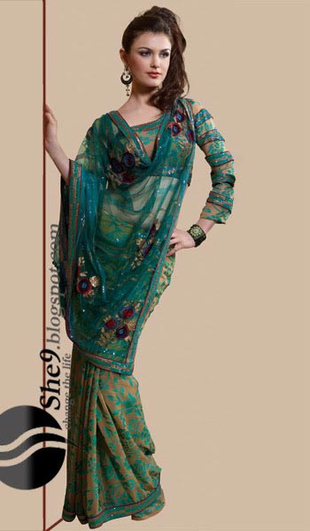 saree and pallu drape style 24