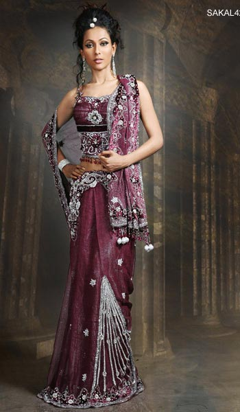 saree and pallu drape style 5