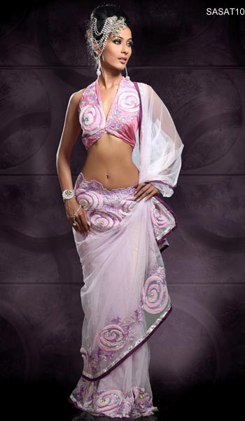 saree and pallu drape style 6