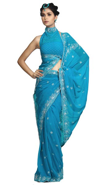 saree and pallu drape style 8