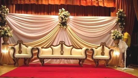 Beautiful stage with cream brown and orange colour combination