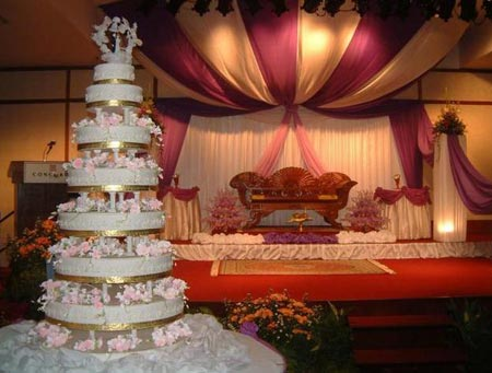 Lovely stage decoration with lot of drape work