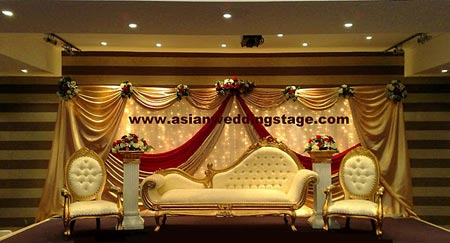 Simple and elegant stage decoration