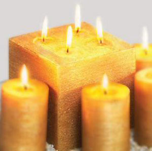 Golden yellow candles