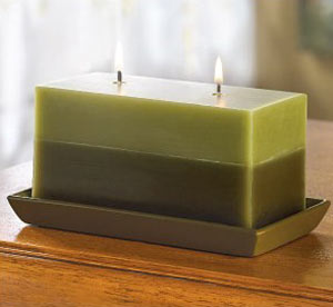 Elegant green candle