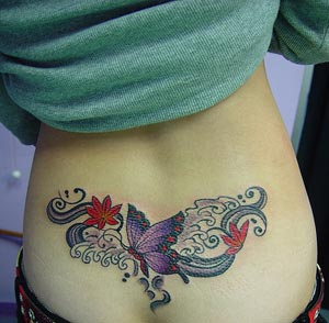 Tattoo on lower back