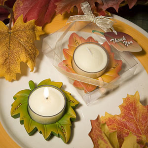 Leaf shaped candles