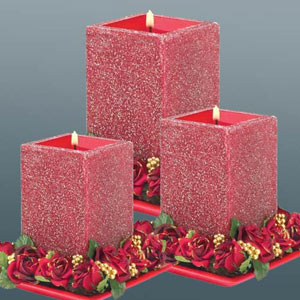 Beautiful red designer candles