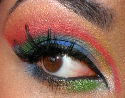The rainbow eye look