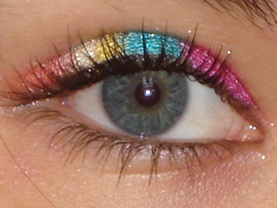 Rainbow eye effect