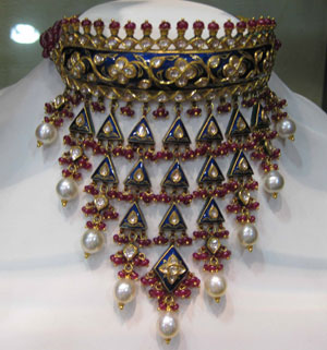 Kundan meena jadau necklace