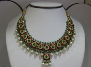 Multi color kundan necklace