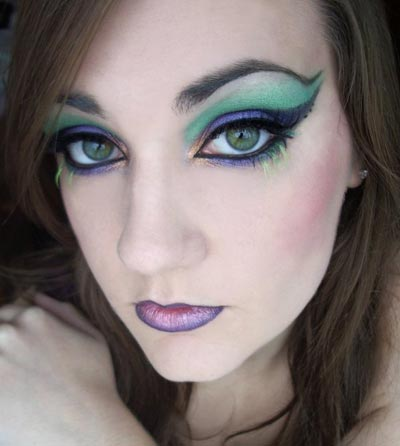 Green and purple look