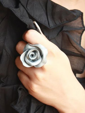 Clay Rose Ring