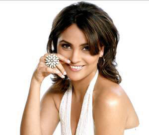 Lara Dutta wearing a gorgeous white ring