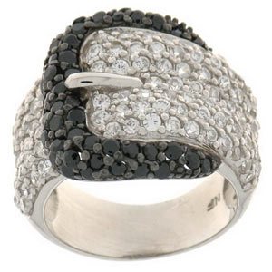 Trendy belt buckle shaped ring