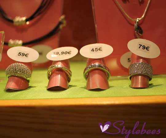 Studded and plain silver ring designs