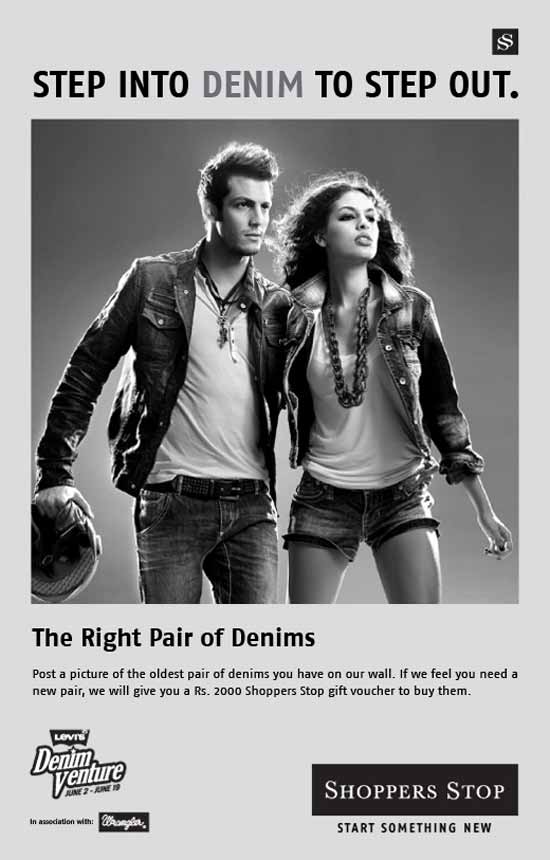 get a free denim jeans from shopper stop