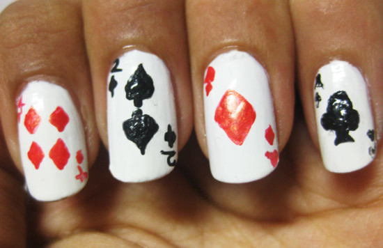 Playing card nail art 2