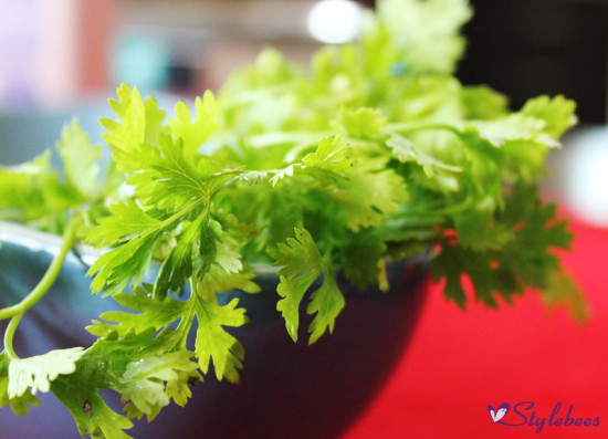 coriander for hemoglobin