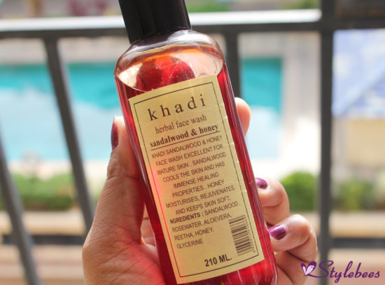khadi sandal and honey face wash