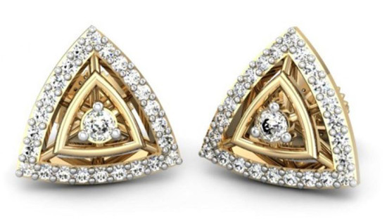 pyramid-shape-earring-for-heart shape face cut