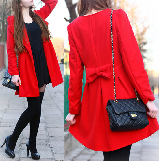 black-dress-with-a-red-over coat 13