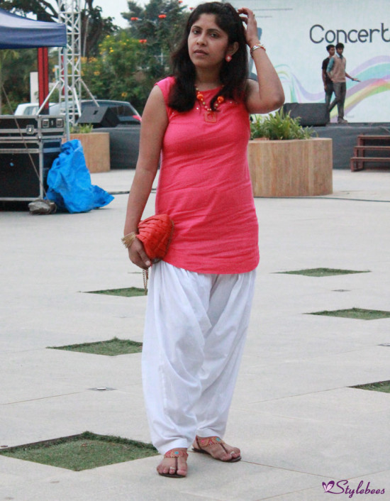 short kurta with patiala salwar