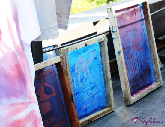 colorful printing stencils