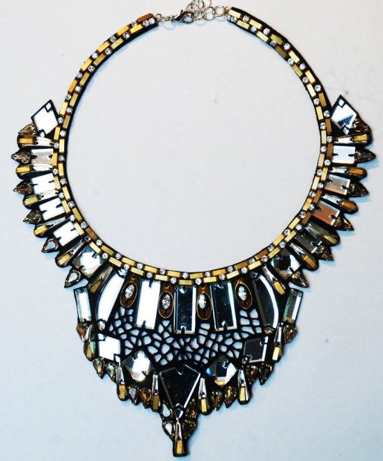 night mirror statement necklace