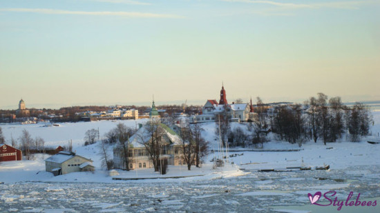 Snow covered landscape in helsinki