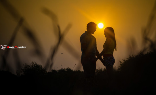 couple photo at sunset