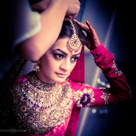 bridal fashion in majestic maang tikka