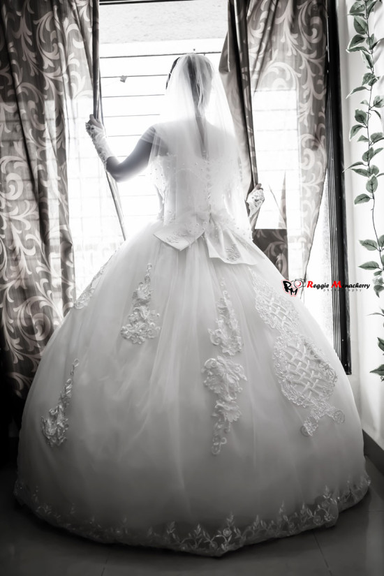 christian wedding gown in white